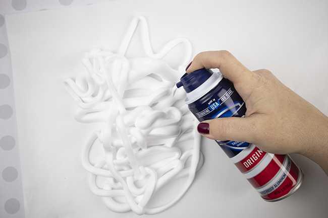 crafts with shaving cream