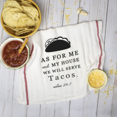 Funny Taco Cut File – As for Me and My House, We Will Serve Tacos