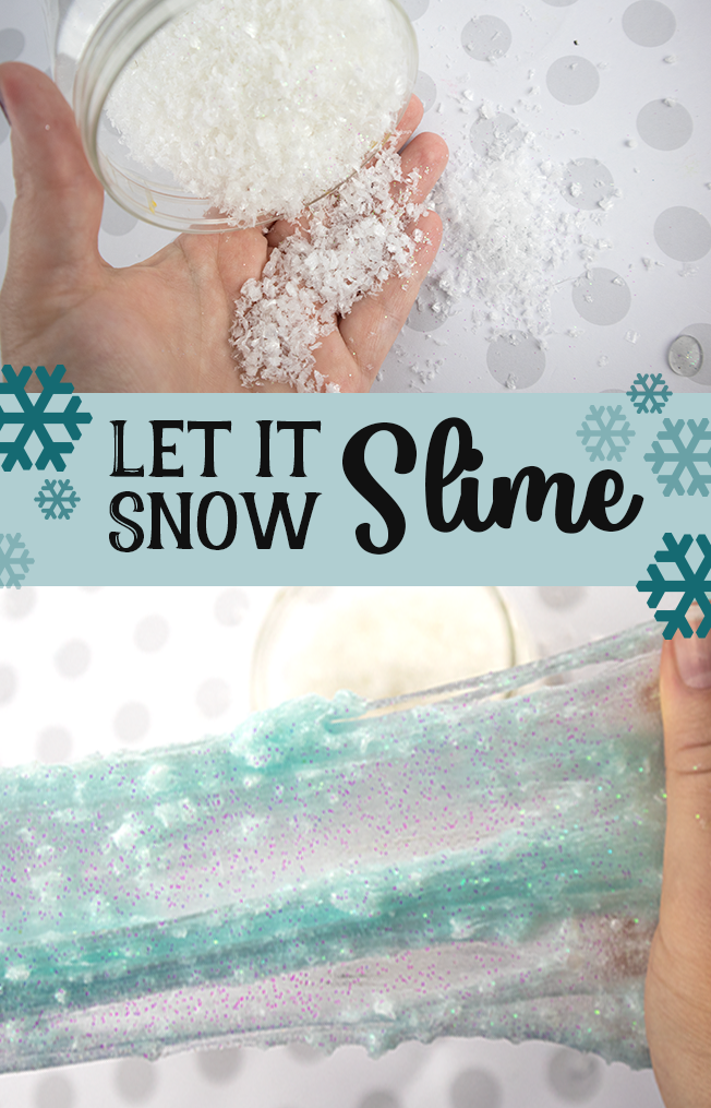 Let it Snow Slime - The Slime that really snows as you play with it. Fluffy and fun!