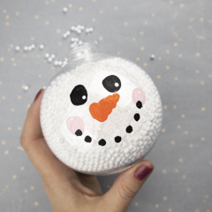 Snowman Christmas Ornament – Easy Dollar Store Christmas Craft
