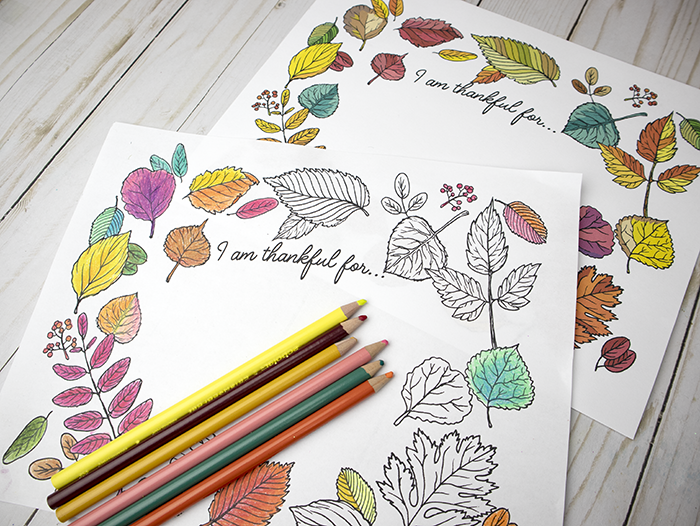 I Am Thankful For... Free Printable Coloring Sheet or Fully Colored ...