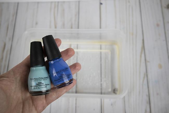 marbling with nail polish