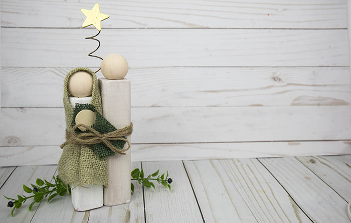 DIY Wood Block Nativity Set - You Can Make This! - Clumsy ...