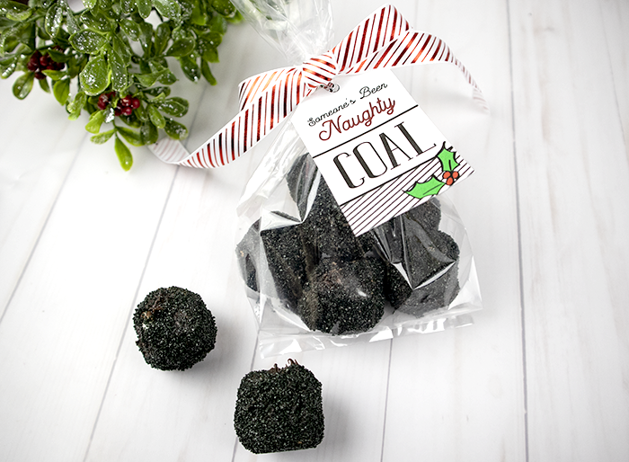 Marshmallow Coal - and edible coal and funny Christmas gift for friends or coworkers