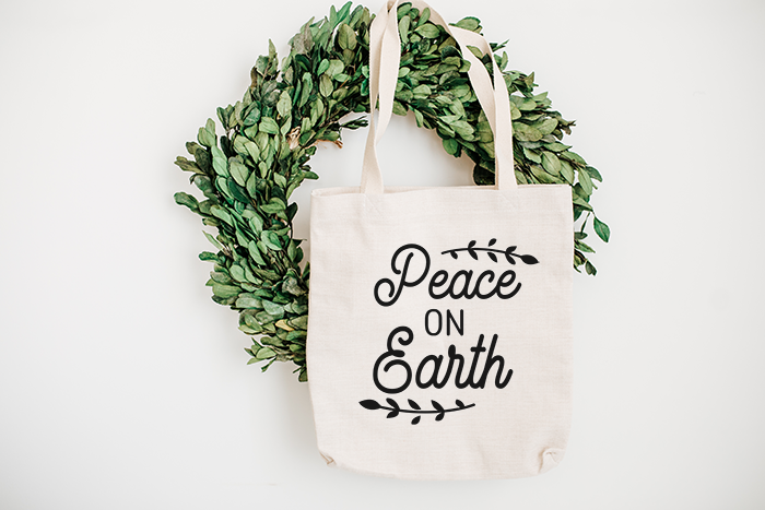 Peace On Earth Free Cut File Perfect For Gifts Or Diy Gift Bags