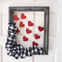 The Sweetest Valentine's Day Wreath / Door Hanger
