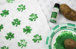 St. Patrick's Day Shamrock Potato Prints