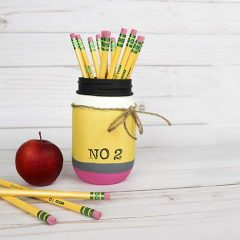 Pencil Mason Jar – Fun Teacher Gift Idea