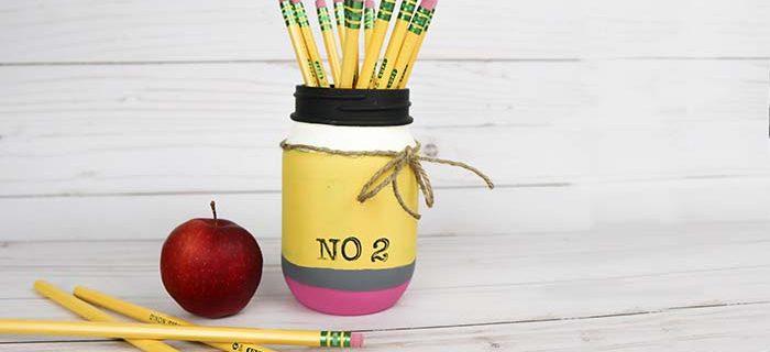 Pencil Mason Jar – Fun Teacher Gift Idea