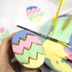 Potato Print Easter Eggs – Easy Easter Craft!