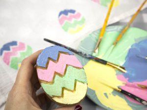 Potato Print Easter Eggs – Easy Easter Craft!