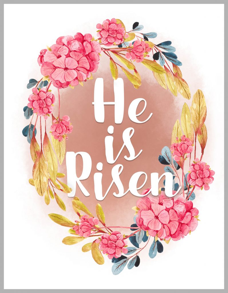 image about He is Risen Printable identify He is Risen! Absolutely free Easter Printable - Clumsy Crafter