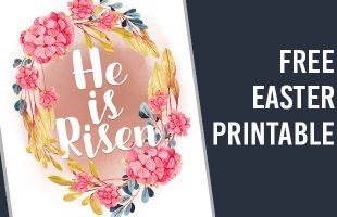 He is Risen! Free Easter Printable