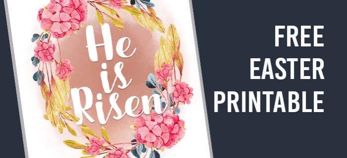 He is Risen! Free Easter Printable