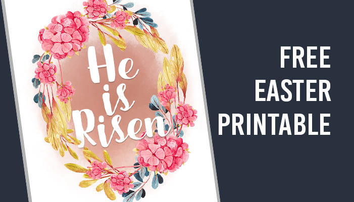 free easter printable from Clumsy Crafter