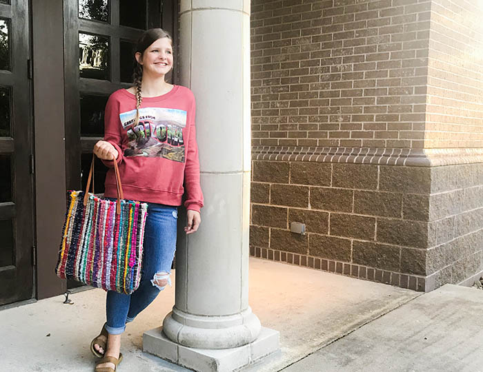 how to make a tote bag from a rag rug