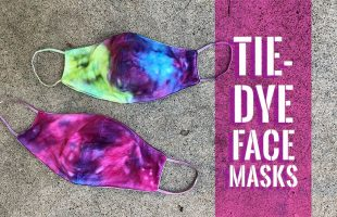 DIY Tie-Dye Face Masks