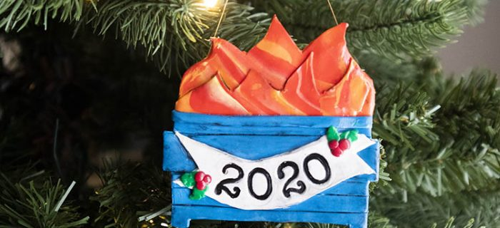 The Perfect Ornament for 2020 – DIY Polymer Clay Dumpster Fire