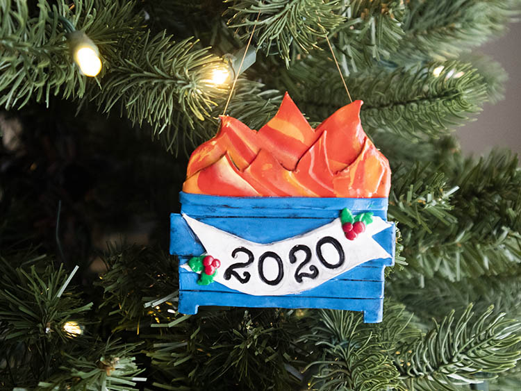 DIY Ornament 2020 Polymer Clay